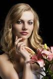 Lilienart und weise portarit, lächelt sie Stockbilder
