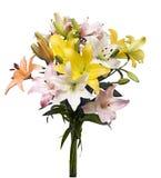 Lilienblumenstrauß lizenzfreie stockbilder