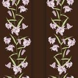 Liliendesignkarte lizenzfreie abbildung