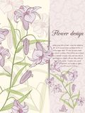 Liliendesignkarte stock abbildung