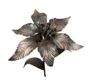 Lilienhandgemachtes geschmiedet vom Metall lizenzfreies stockbild