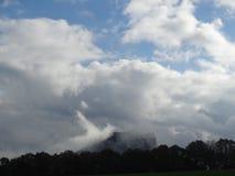 Lilienstein im Nebel Stockfoto
