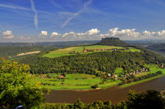 Free Lilienstein Mesa Above The River Elbe. Stock Image - 34098101