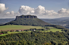 Free Lilienstein Mesa Above The River Elbe. Stock Image - 34099741