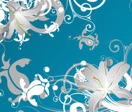 Lilies abstraction Royalty Free Stock Photography