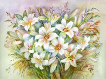Lilies Bouquet Royalty Free Stock Image