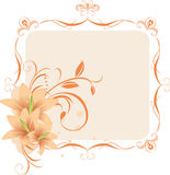 Lilies In The Decorative Frame Stock Photography
