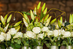 Lilies and roses Stock Photo