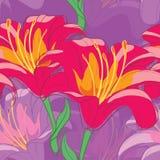 Lilies_seamless Lizenzfreie Abbildung