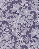Lilies. Seamless Pattern. Lace. Stock Photography