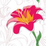 Lilies_seamless1 Vektor Abbildung