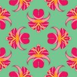 Lilies_seamless6 Lizenzfreie Abbildung