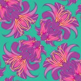 Lilies_seamless8 Stock Abbildung