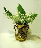 Lilies of the valley. A bouquet of lilies in a vase Stock Image
