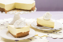 Lilikoi Chiffon Pie. Elegant lilikoi (passion fruit) chiffon pie with graham cracker crust Stock Images