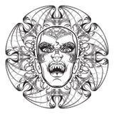 Lilith nakreślenie odizolowywający na białym tle Obrazy Stock