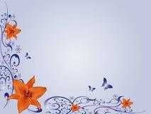 Lilium de canto floral do projeto ilustração royalty free