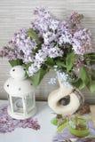 Lillà, lillà in un vaso Fotografie Stock