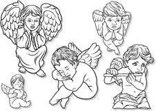 Lilla Angel Set Arkivbild