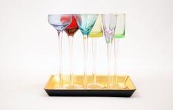 lilla apertifexponeringsglas Arkivbild