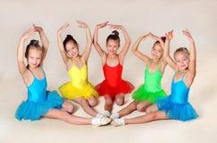lilla balettdansörer royaltyfria foton