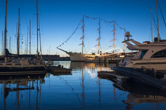 Lilla Bommen harbour Gothenburg royalty free stock images