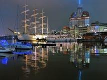 Lilla Bommen schronienie z statkiem Barken Viking w Gothenburg, Szwecja Zdjęcie Royalty Free
