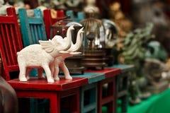 lilla elefantfigurines Fotografering för Bildbyråer