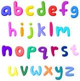 lilla färgrika bokstäver vektor illustrationer