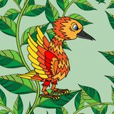 Lilla fågelallsångsongs. Seamless textur. Arkivfoto