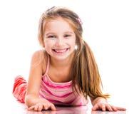 Lilla flickan går in för sportar Royaltyfria Foton