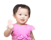 Lilla flickan säger högt Arkivbild