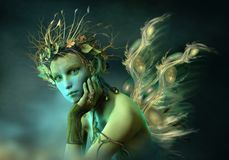 Lilla Forest Sylph, 3d CG vektor illustrationer