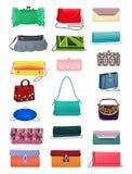 lilla handväskor Royaltyfri Fotografi