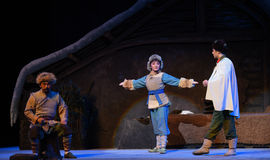 "Lilla Hunter Chang Bao-Peking Opera som ""Taking Tiger Montain By Strategyâ € Arkivfoto"