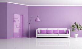 Lilla living room Royalty Free Stock Photography