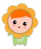 Lilla lyckliga Chamomille behandla som ett barn Royaltyfria Foton