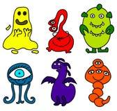 lilla monster stock illustrationer