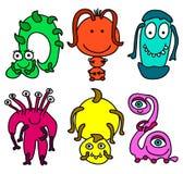 lilla monster royaltyfri illustrationer