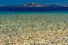 Lilla Pebble Beach på Zakynthos royaltyfria bilder