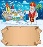 Lilla pergament och St Nicholas 2 stock illustrationer