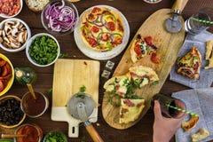 Lilla Pizzas Royaltyfria Bilder