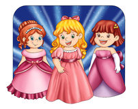 lilla princesses royaltyfri illustrationer