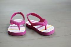 lilla sandals för flicka Royaltyfri Foto