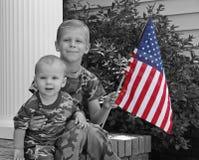 lilla soldater fotografering för bildbyråer