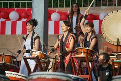 Lilla Taiko Drums Royaltyfri Fotografi