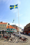 Lilla Torg square in Malmo city, Sweden Royalty Free Stock Photos