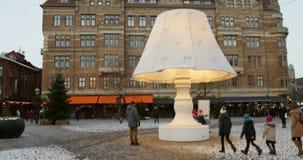 Lilla Torg Square in Malmo, Sweden stock footage