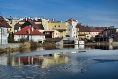 Lilla Vajgar och historiska byggnader royaltyfria bilder