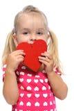 lilla valentiner för dagflicka Royaltyfria Bilder